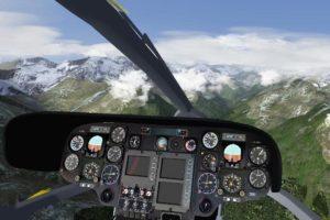 Screenshot Cockpit Hubschrauber
