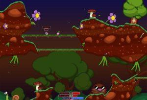 Screenshot kostenloses Spiel Worms