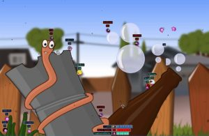 Screenshot Open Source Game Worms